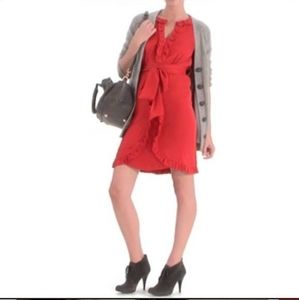 Marc Jacobs Silk crepe ruffle dress Red size 0